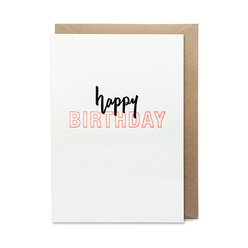 Happy Birthday: Birthday card