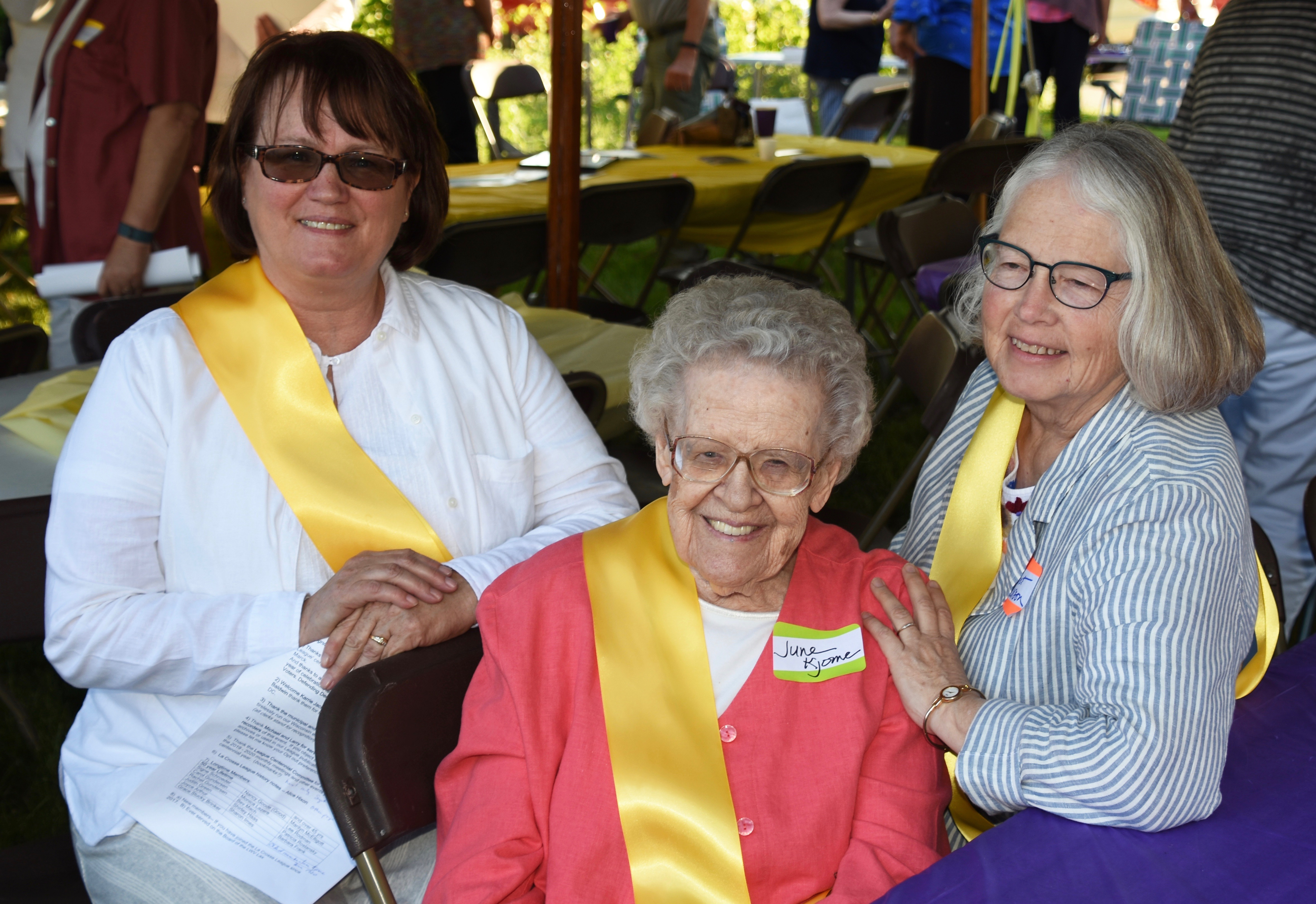 Sheila and Margaret with June.