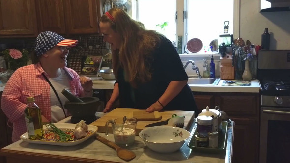 Cooking with my sister Amy