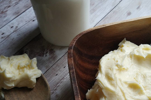 Cultured butter and buttermilk