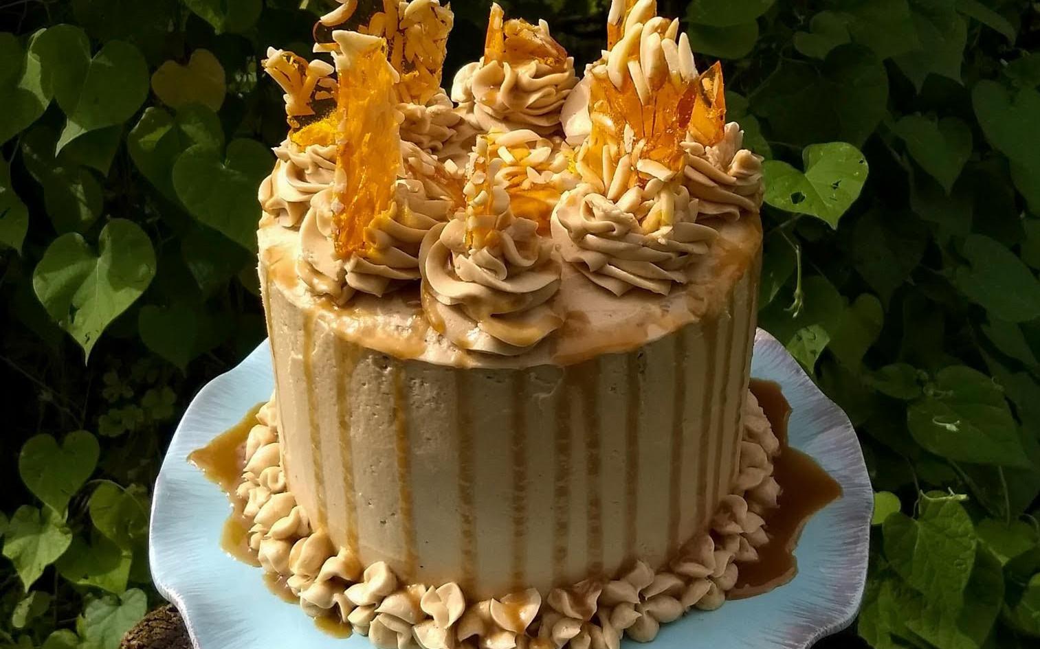 Caramel Tower Cake