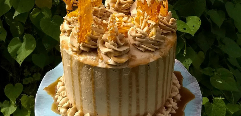 Caramel Tower Cake