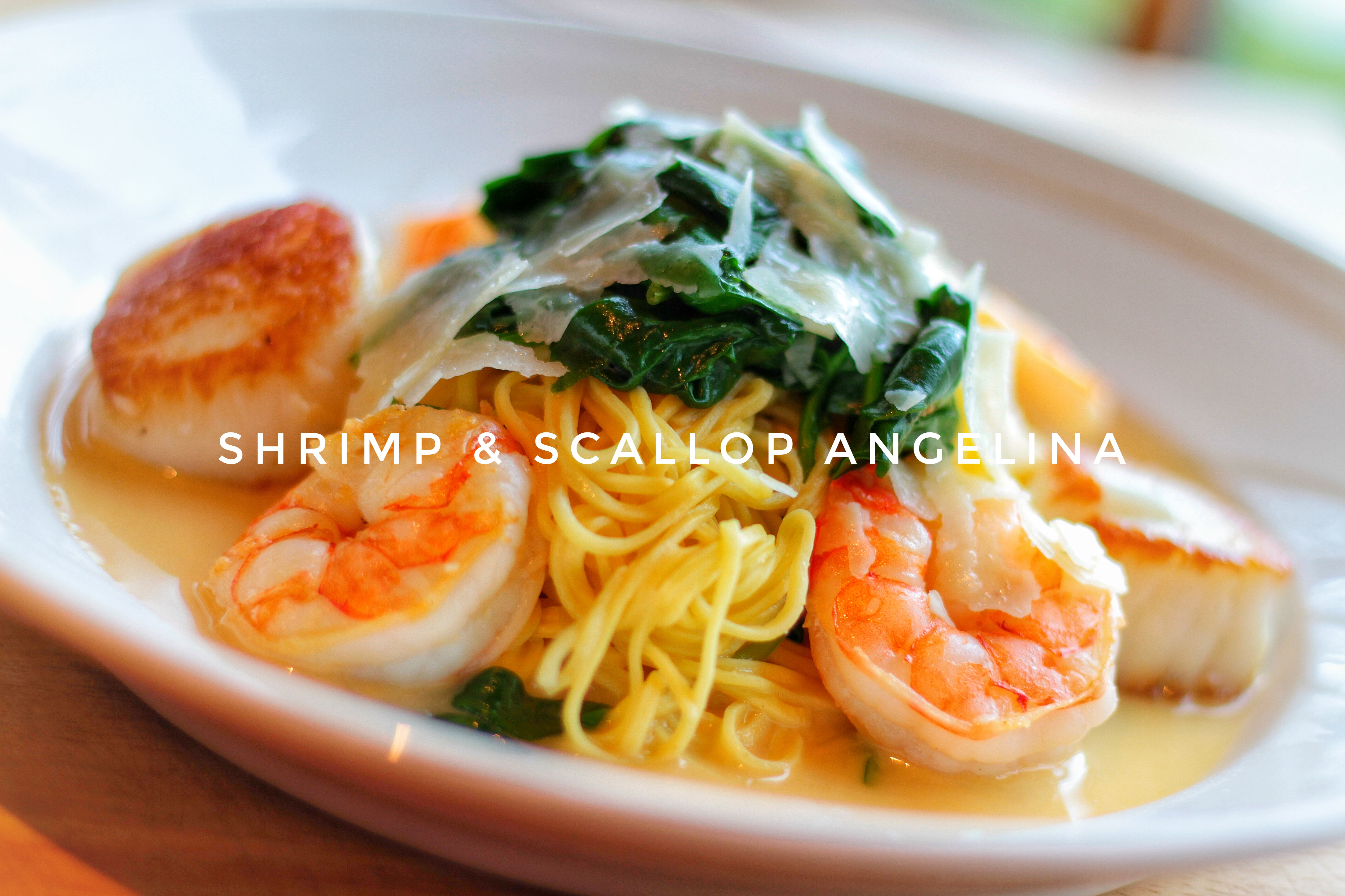 Shrimp and Scallop with text