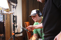 Brad working the audio gear