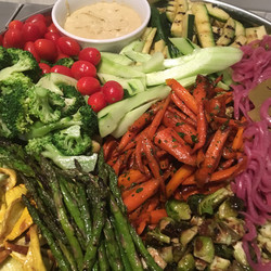 Vegetable platter 4 ways