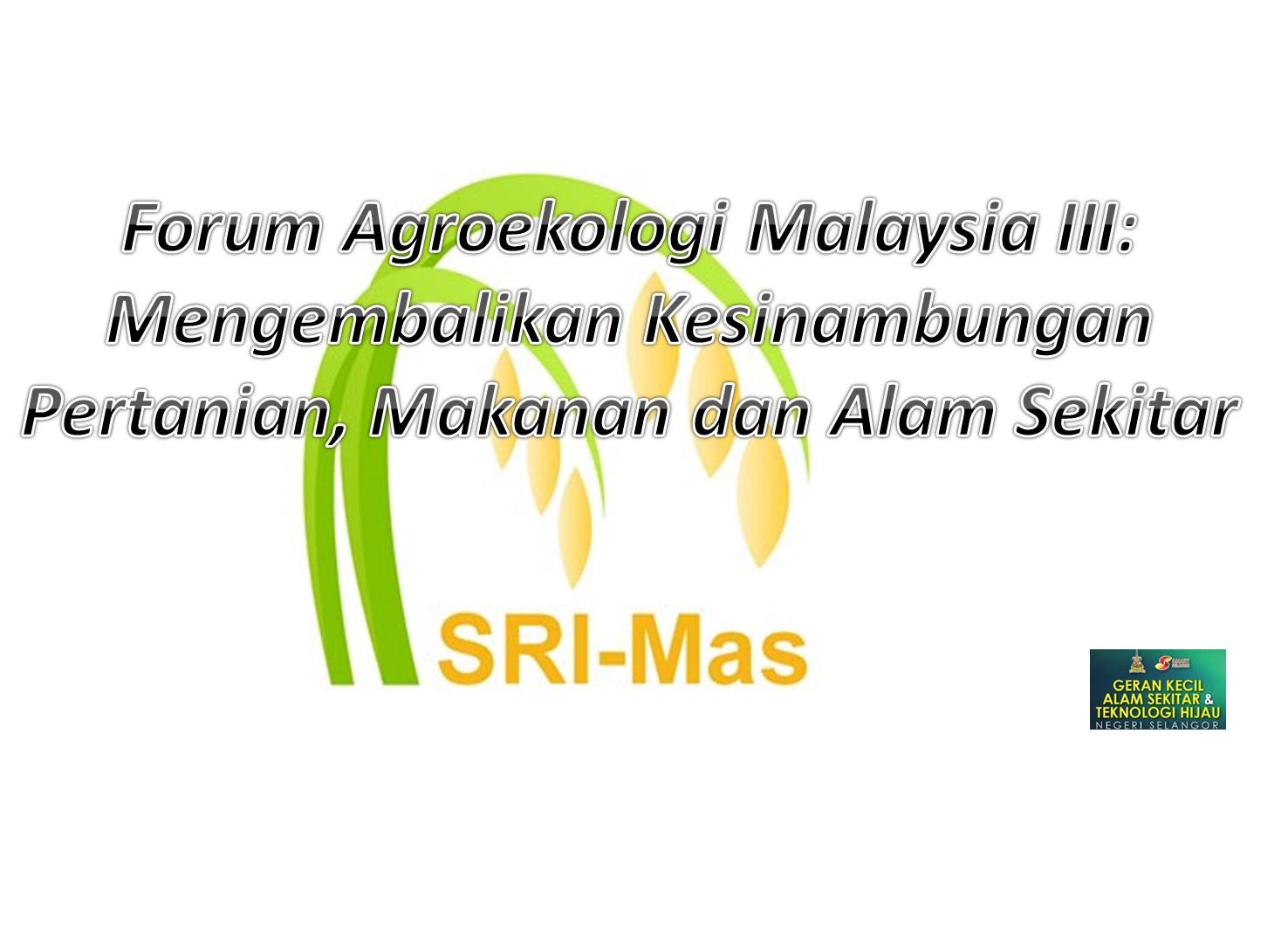 Forum AgroekologiIII Latest