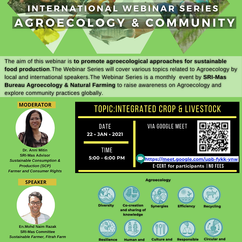 🌱THE INTERNATIONAL WEBINAR ON AGROECOLOGY & COMMUNITY: SERIES 1/2021🌱