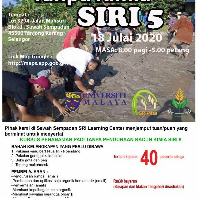 Training Workshop on Rice Farming Without  Agrochemicals