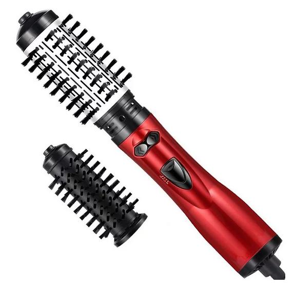 מברשת שיער מסתובבת 2 ב 1 לייבוש החלקה וסלסול