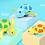 Thumbnail: צעצוע אמבט לפעילות והנאה צב ים שוחה לילדים