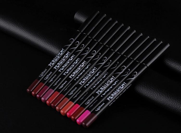 תוחם שפתיים - סט 12 יחידות בצבעים שונים
