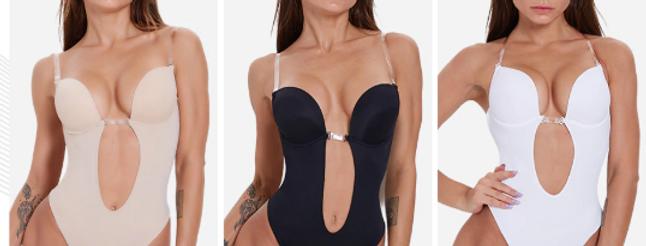 מחטב פושאפ ומעצב גוף עם בד נושם ללא גב דגם 2020