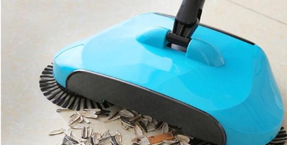 מטאטא הפלא - בעל פעולת האיסוף מתאים לכל סוגי הרצפות