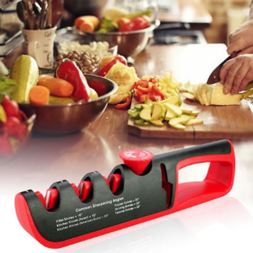 משחיז סכינים מקצועי ובטיחותי 4 ב 1 להשחזת כל סוגי הסכינים