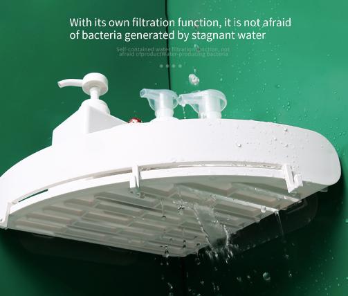 מדף צףלמקלחת או למטבח ללא קדיחת חורים
