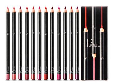 עפרון תוחם לשפתיים - סט 12 יחידות מיוחדים
