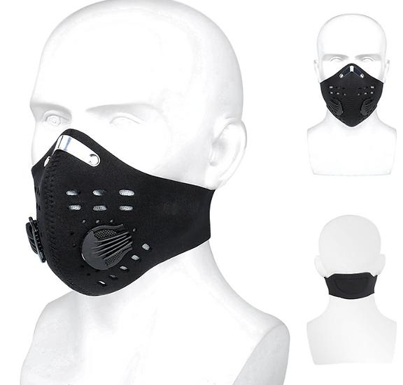 מסיכת פנים רב שימושית מעוצבת עם פילטרים להחלפה