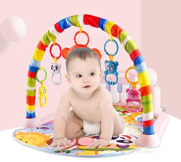 משטח אוניברסיטה לתינוק עם מוביילים ופסנתר מובנה לפיתוח לגיל הרך