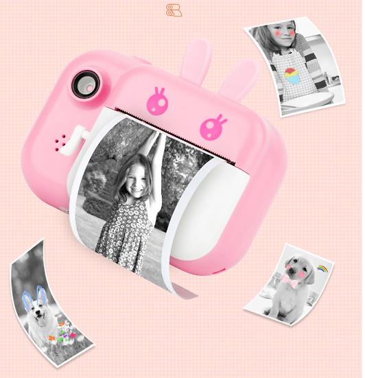 מצלמה ומדפסת ניידת כולל 3 גלילי נייר וכרטיס זיכרון