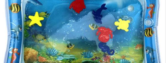משחק מים מתנפח לתינוקות עם דגים להנאה והתפתחות התינוק