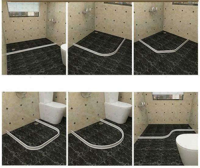מחיצת סיליקון איכותית למניעת התפשטות מים מתאים למקלחת למכונת וכביסה ועוד