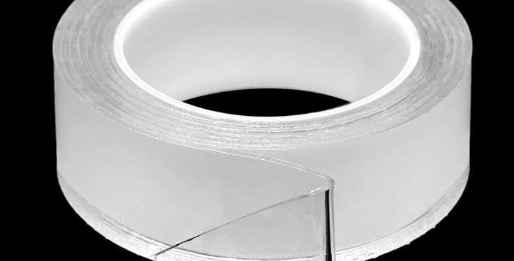 גליל סיליקון דו צדדי איכותי להדבקה למשטח בעל שימוש חוזר