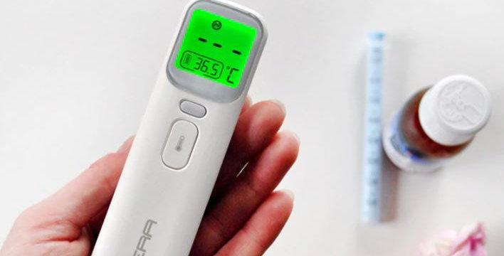 מודד חום ללא מגע לתינוקות עם תצוגת לד חכמה דגם 2020
