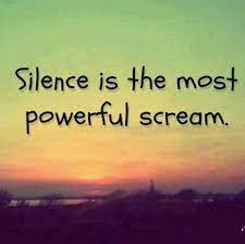 Time to be  Silent