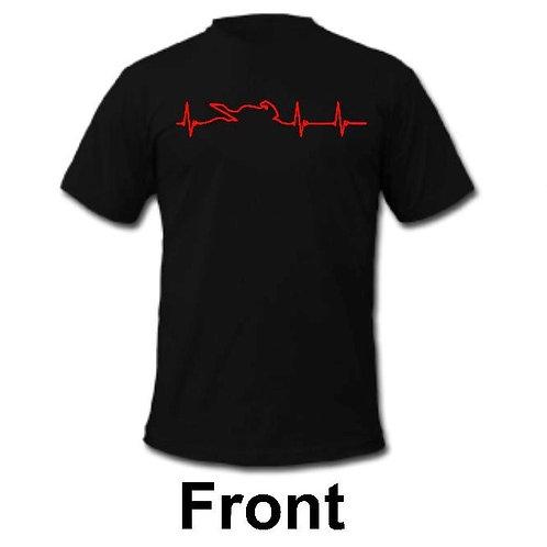 Motorcycle heart beat t-shirt