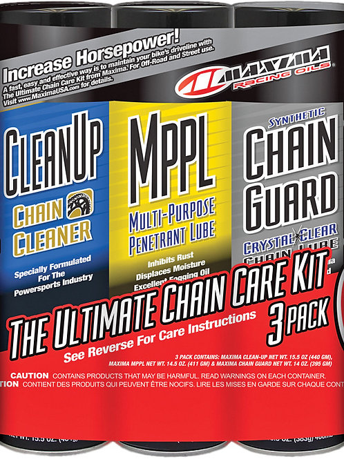 MAXIMA ULTIMATE CHAIN GUARD CARE KIT 3/PK