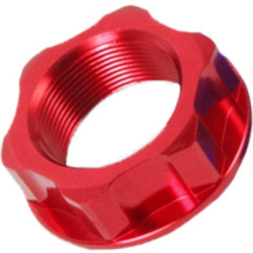 ZETA STEERING STEM NUT & BOLT RED M24X30-P1.0 H12