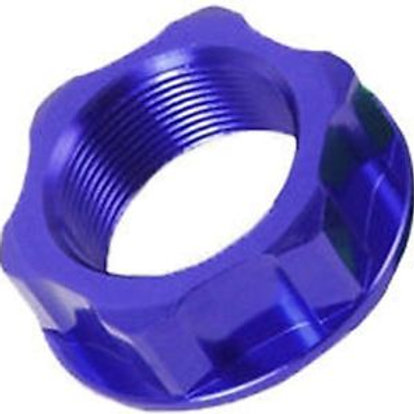 ZETA STEERING STEM NUT & BOLT BLUE M24X30-P1.5 H14