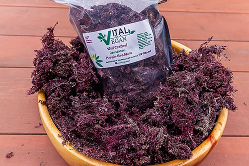 Wild Crafted Jamaican Purple Sea Moss 112 Grams