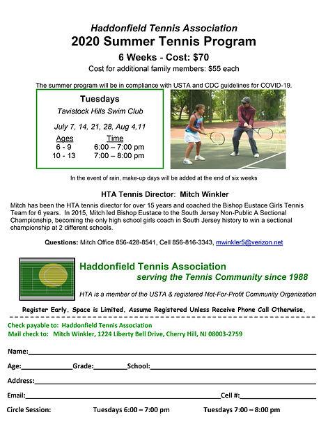2020 Summer Haddonfield Tennis Associati