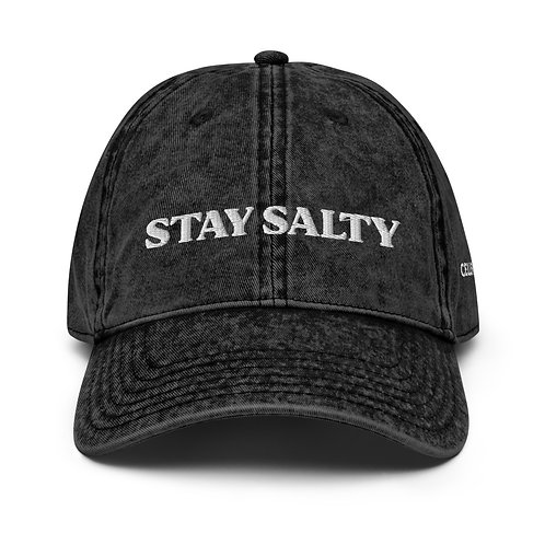 STAY SALTY Vintage Cotton Cap