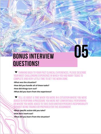 Interview Bonus Questions