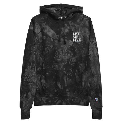 LET ME LIVE CELLFIE tie-dye hoodie