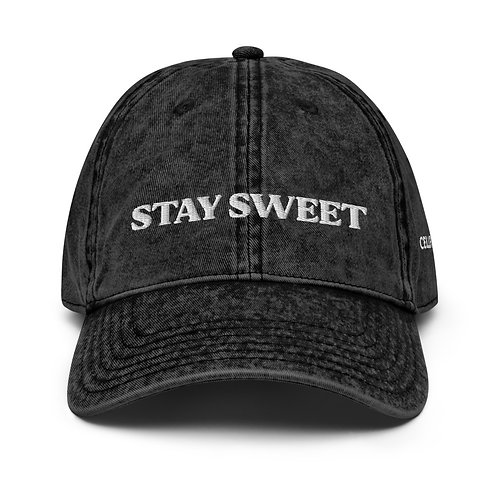 STAY SWEET Vintage Cotton Cap