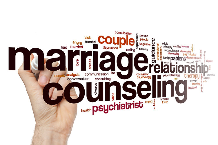 Marriage counseling word cloud concept.j