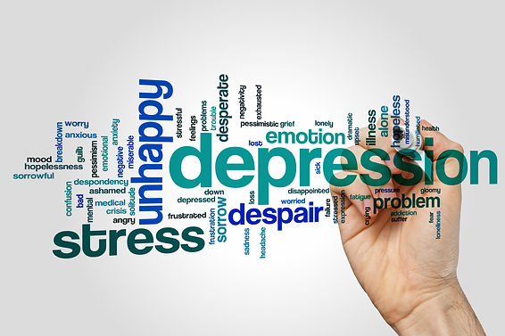Depression concept word cloud background