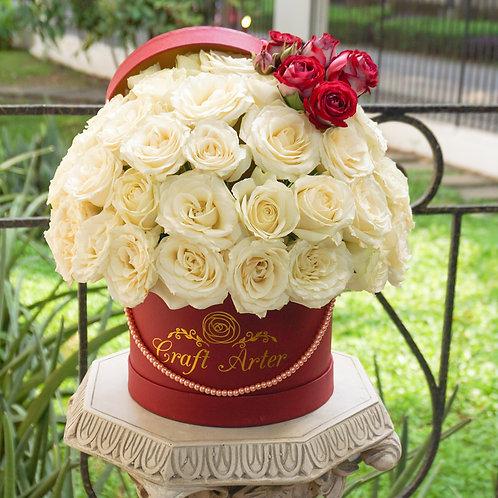 white fabulous roses