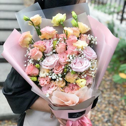 Champagne Lisianthus Bouquet