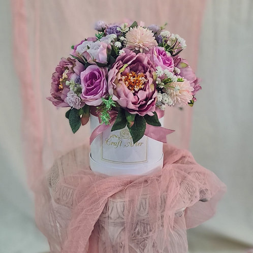 Lilac Silk Flower Bloombox