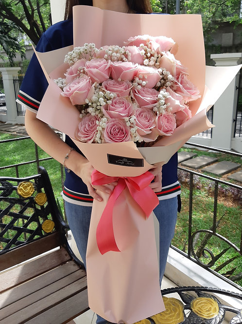 20 classic sweet pink Bouquet