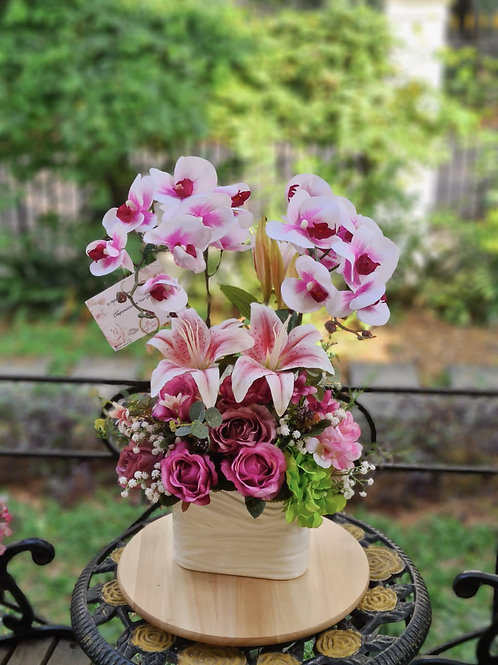 Purple Magenta Orchid Arrangement