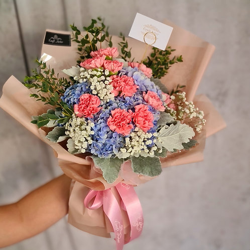 Hydrangea and Carnation Bouquet