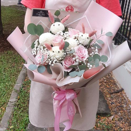 Cute Bunny Pingpong Bouquet