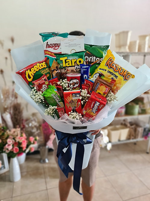 Large size Snack Bouquet in Blue