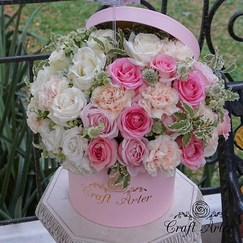 White blush in Pink Hatbox