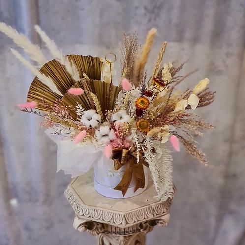 Dried Arrangement w/ Fan Shape Palm